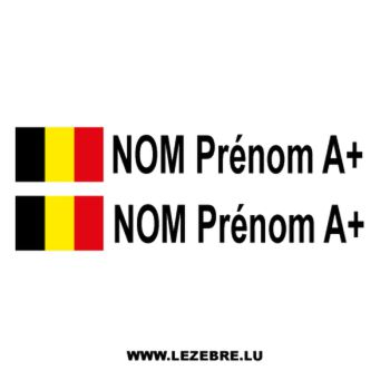 2x Belgian flag pilot/co-pilot custom decals