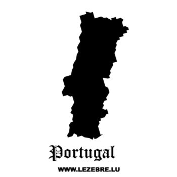 Portugal Silhouette Decal