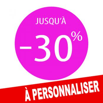 Sticker Soldes -30% à Personnaliser