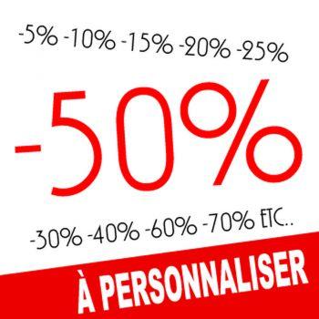 Sticker Soldes -50% à Personnaliser II