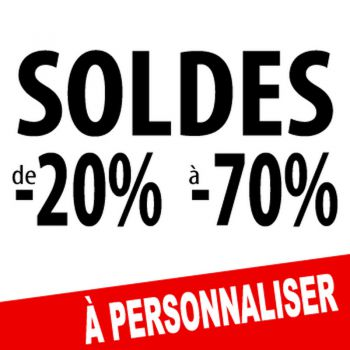 Decal soldes vitrine pourcentage to customize