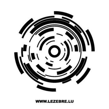 Sticker Spirales Espace