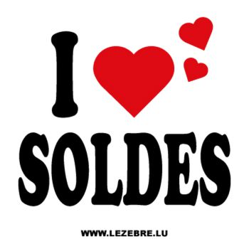 Showcase I love Soldes Decal
