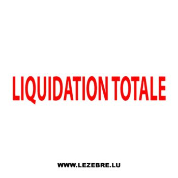 Vitrine liquidation totale Decal