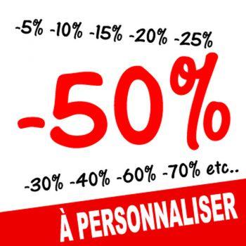 Sticker Vitrine Soldes -50% à Personnaliser III
