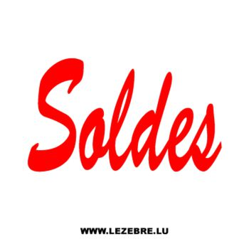 Vitrine soldes magasin Decal