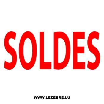 Sticker Vitrine Soldes
