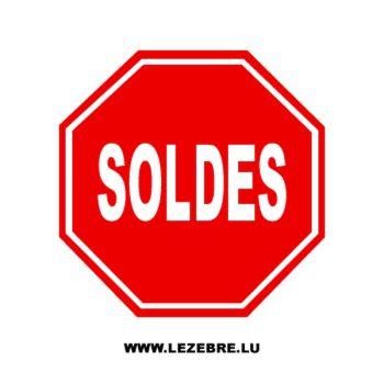 Sticker Vitrine Stop Soldes