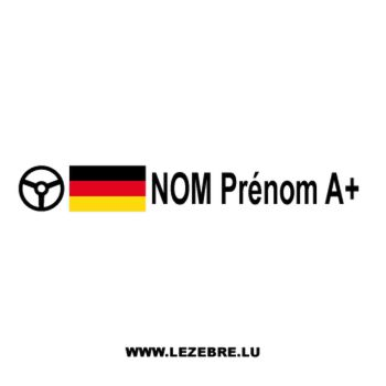 2x German flag steering wheel pilot custom decals