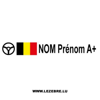 2x Belgian flag steering wheel pilot custom decals