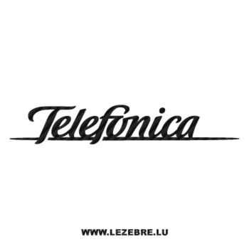 Telefonica Logo Carbon Decal
