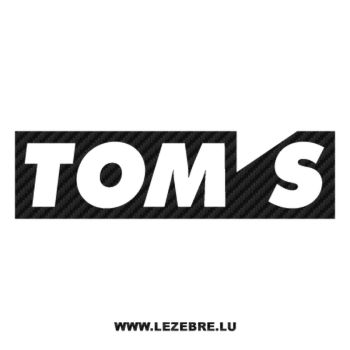 Sticker Carbone Tom's Logo 2