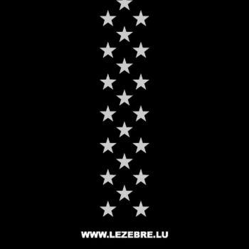 Sticker Triple Bande Moto Racing Sterne