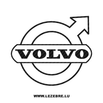 Volvo logo Carbon Decal 2