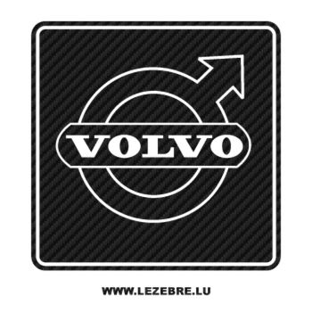 Sticker Carbone Volvo Logo 3