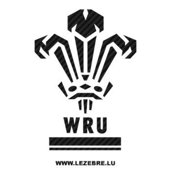 Sticker Carbone WRU Pays de Galles Rugby Logo