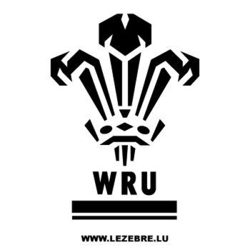 WRU Wales Rugby Logo Decal