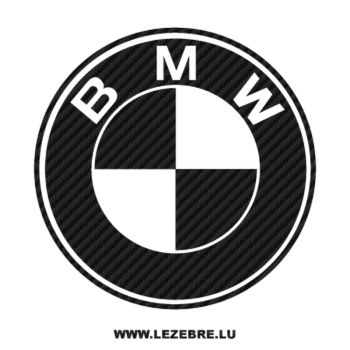 BMW logo Carbon Decal 3