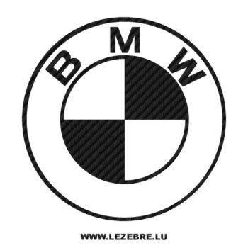 BMW logo Carbon Decal 4