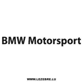 Sticker Carbone BMW Motorsport 2