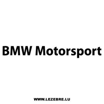BMW Motorsport Decal 2