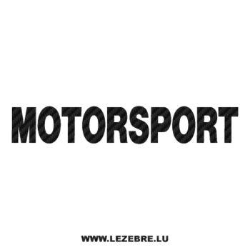 Sticker Carbone BMW Motorsport