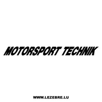 Sticker BMW Motorsport Technik