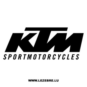 KTM Sportmotorcycles Decal