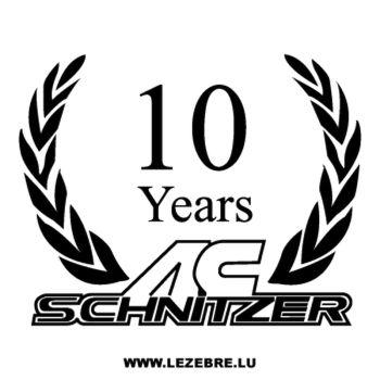> Sticker AC Schnitzer 10 Years