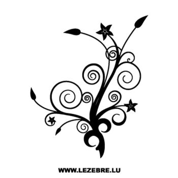 Tree flowers Decal 2