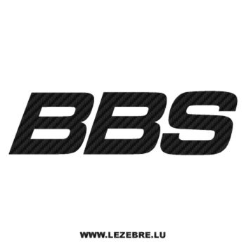 BBS logo Carbon Decal 2
