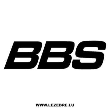 BBS logo Decal 2
