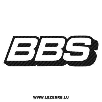 BBS logo Carbon Decal
