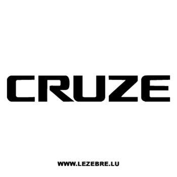 Sticker Chevrolet Cruze