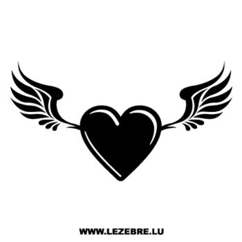 Heart Wings Decal