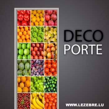 Fruits and Vegetables door decal