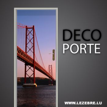 Lisbon Bridge 25 April door decal