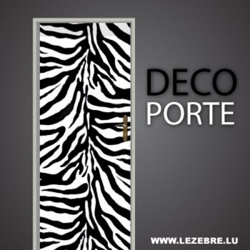 Zebra skin door decal