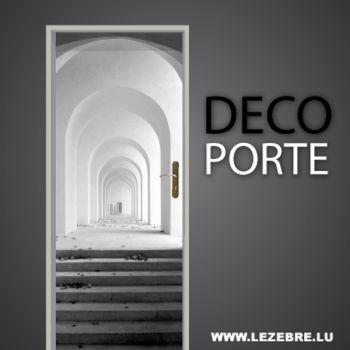 Perspective Depth Entry door decal