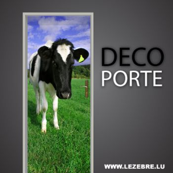 Cow door decal