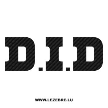 Sticker Carbone DID – D.I.D