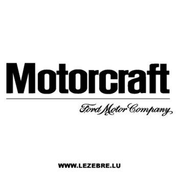 Sticker Ford Company Motorcraft
