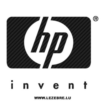 HP Invent logo Carbon Decal