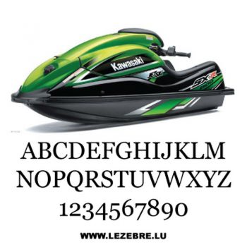 Kit de 2 stickers Immatriculation Jet Ski à Personnaliser Georgia
