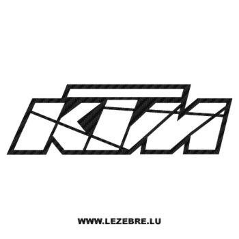 KTM Carbon Decal 3