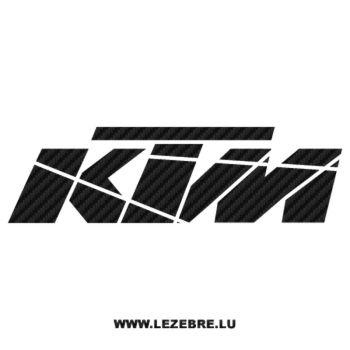 Sticker Carbone KTM 4