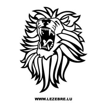 > Sticker Lion Rugissant