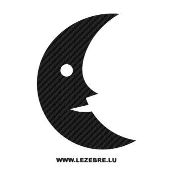 Sticker Carbone Lune Souriante