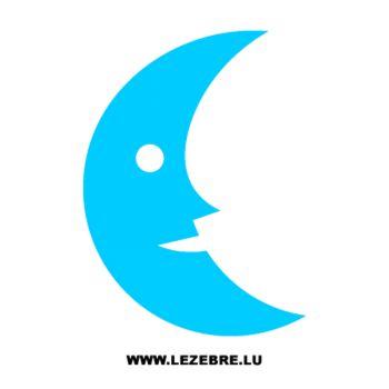 Sticker Lune souriante