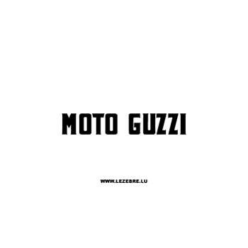 Sticker Moto Guzzi 3